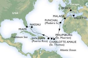 Croisière Transatlantique MSC Divina