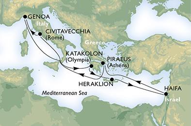 croisiere msc grece