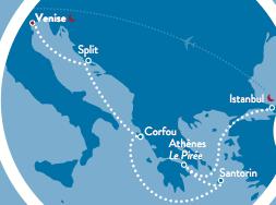 8 jours en mediterranée orientale à bord du Costa Celebration
