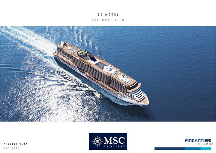 Vue aérienne des futurs navires MSC