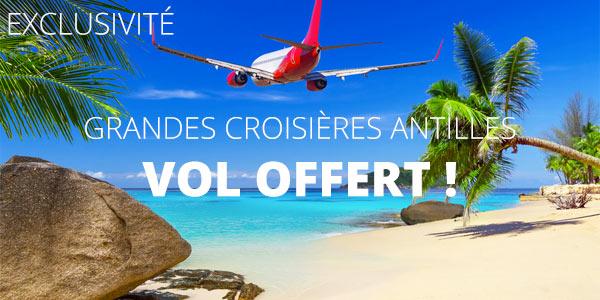 Croisières transatlantiques vol offert