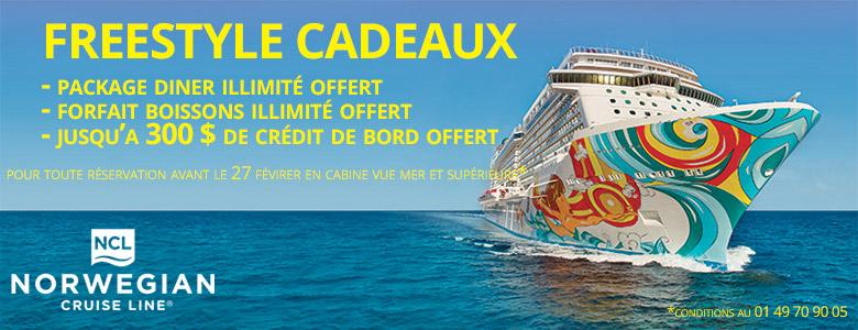 cadeaux offerts par Norwegian Cruise Line