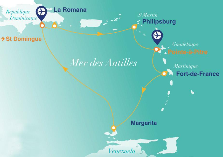 Itinéraire de la croisière miss france 2016
