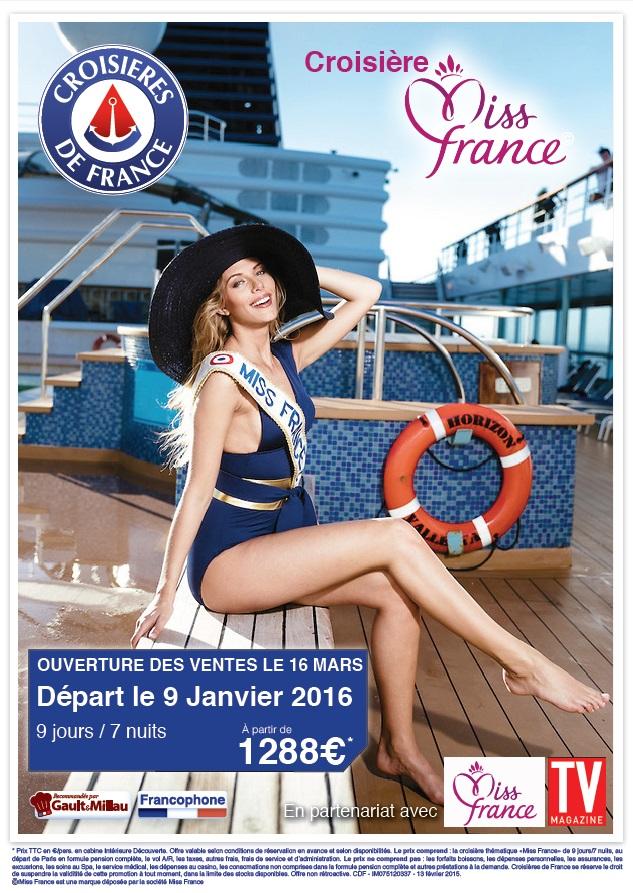 Affiche croisière Miss France