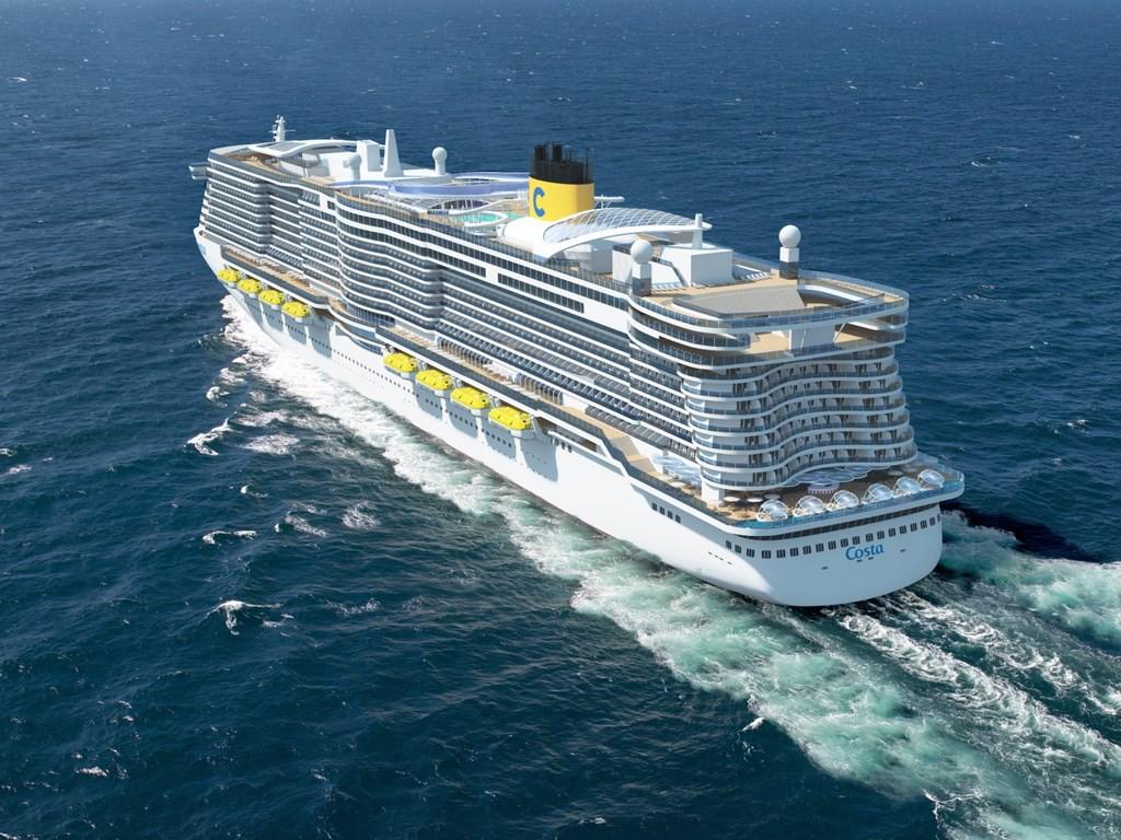 Vue exterieure des nouveaux navires costa