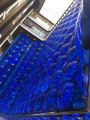 décoration des ascenseurs de verre du costa diadema