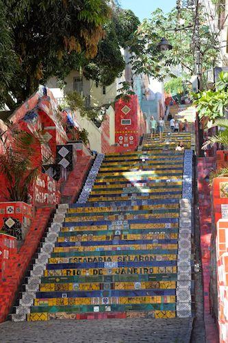 escaliers de Selaron de rio de janeiro