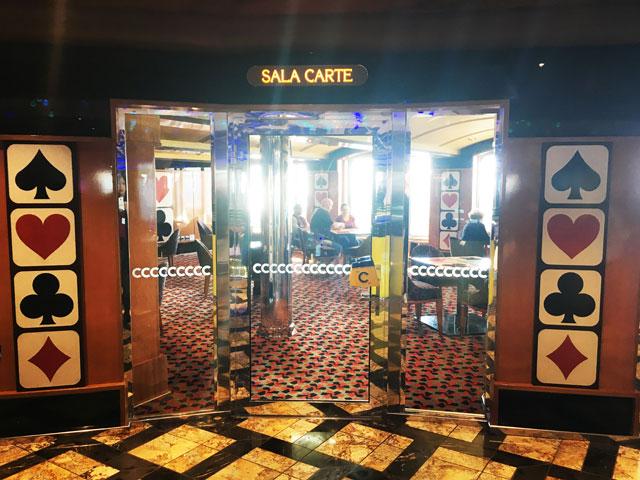 salle de jeux salle de cartes costa croisières