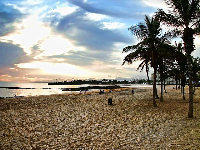 plage d'arrecife canaries