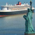 arrivée du Queen Mary 2 à new york