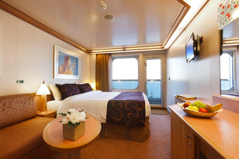 Cabine avec balcon à bord du Costa Fascinosa