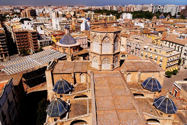 plaza de la virgen et cathédrale de Valence