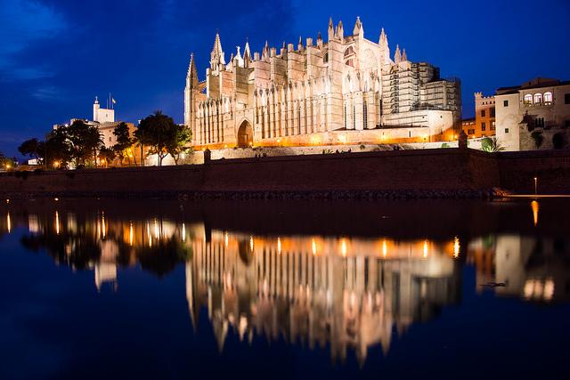La peu cathédrale de Palma
