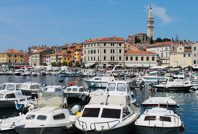 port de Rovinj en Croatie