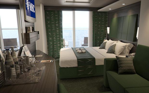 cabine famille MSC Meraviglia