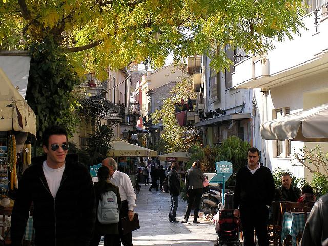 La Plaka quartier d'Athènes