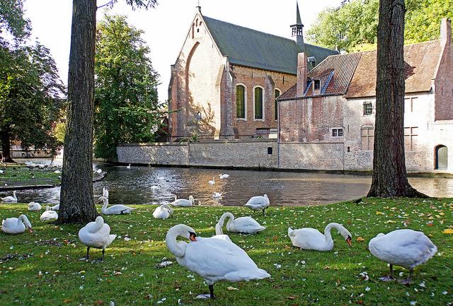 parc du Minnewater Bruges