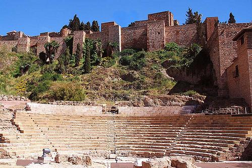 château de Gibralfaro et théâtre romain