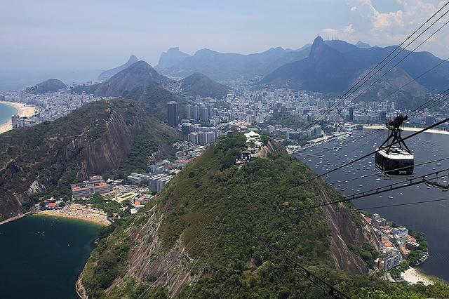 téléphérique du pain de sucre à Rio