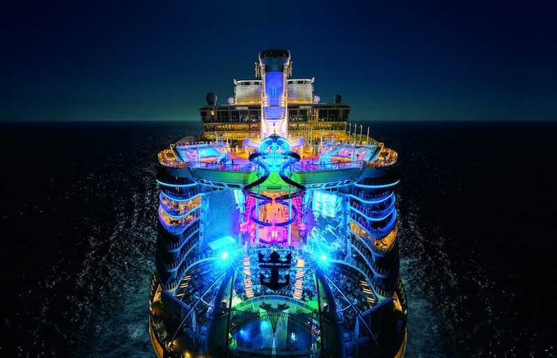 le symphony of the seas éclairé