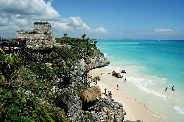 site maya plage tulum