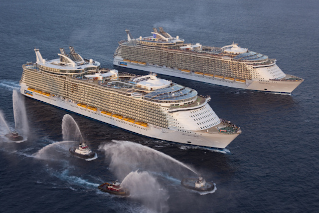 allure of the seas et oasis of the seas flotte royal caribbean