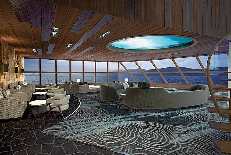 salon d'observation du Norwegian Bliss