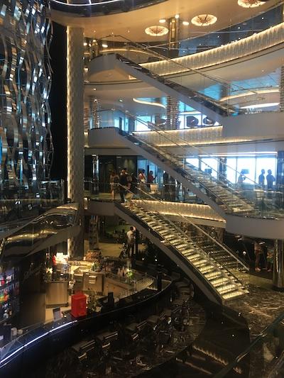 escaliers msc seaview