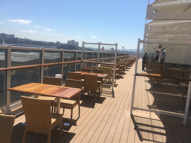 terrasse extérieure msc seaview