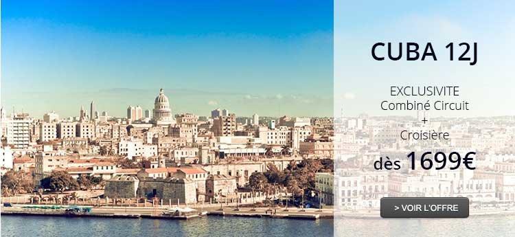 *Combiné Séjour croisière Cuba, 12 jours
