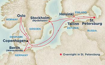 carte Europe du Nord, 12 jours