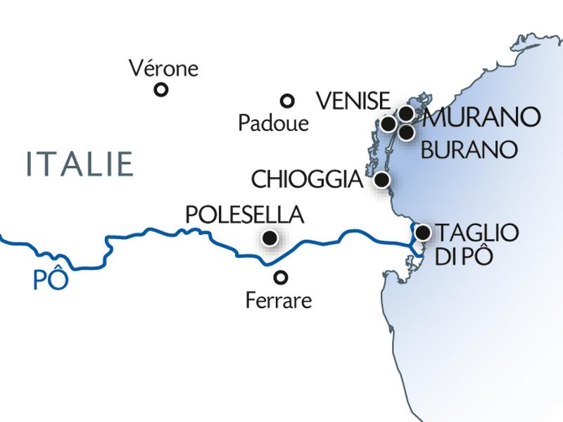 carte Tous les chemins mènent à Venise, 5 jours - VEN
