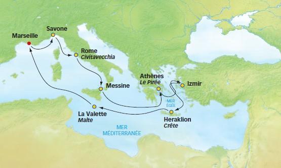 Itinéraire Trésors antiques à bord du Costa Neoromantica