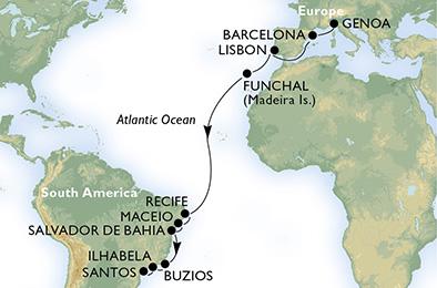 MSC MAGNIFICA - Transatlantique 2013