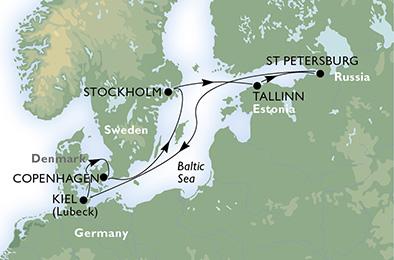 carte Baltique, 8 jours