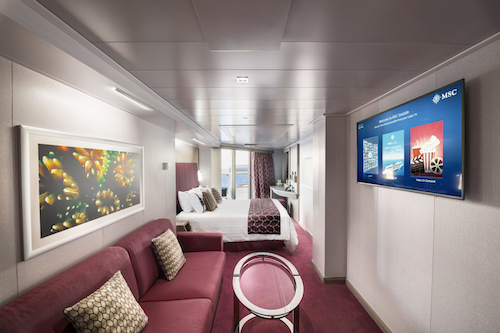 suite cabine msc seaside