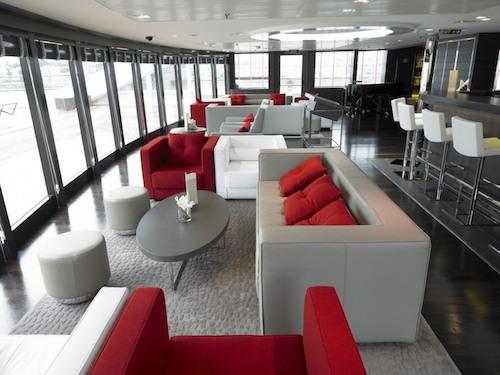 bar lounge panoramique le boréal ponant