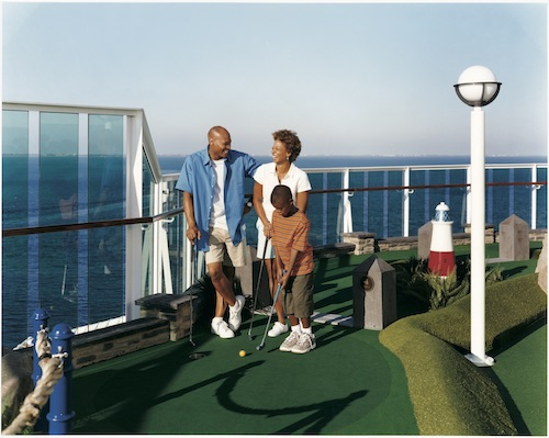 mini golf Royal Caribbean radiance of the seas