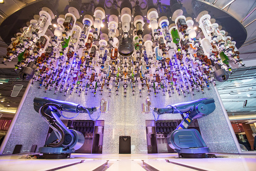 robot barman Royal Caribbean