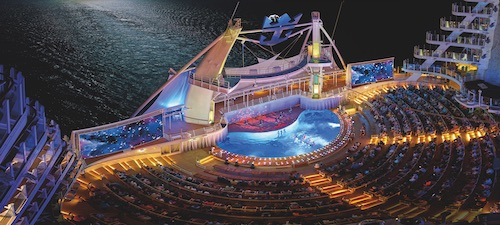 aqua theatre harmony of the seas royal Caribbean
