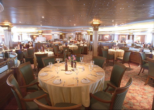 restaurant coral princess cruises