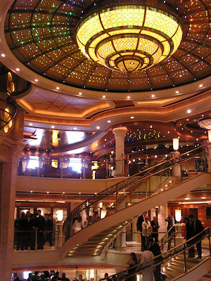 atrium crown princess cruises