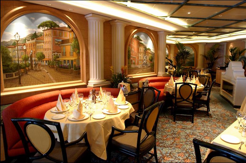 restaurant italien Sapphire Princess