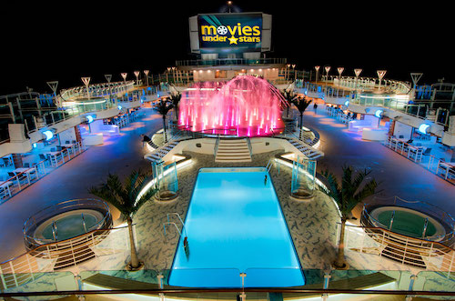 piscine movies under the star royal princess