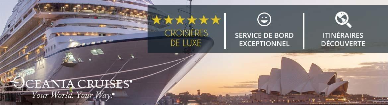 Croisières Oceania Cruises: Promotions, infos et réservations